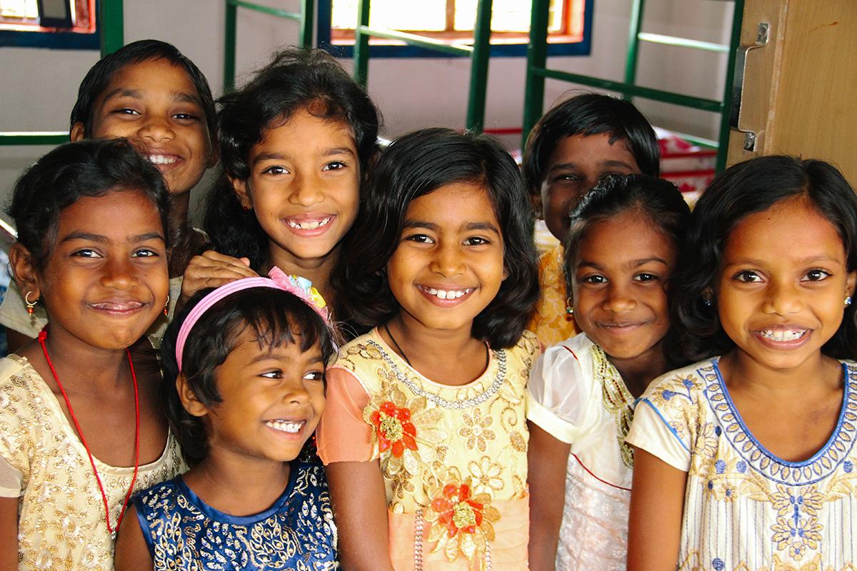 Angel House girls smiling